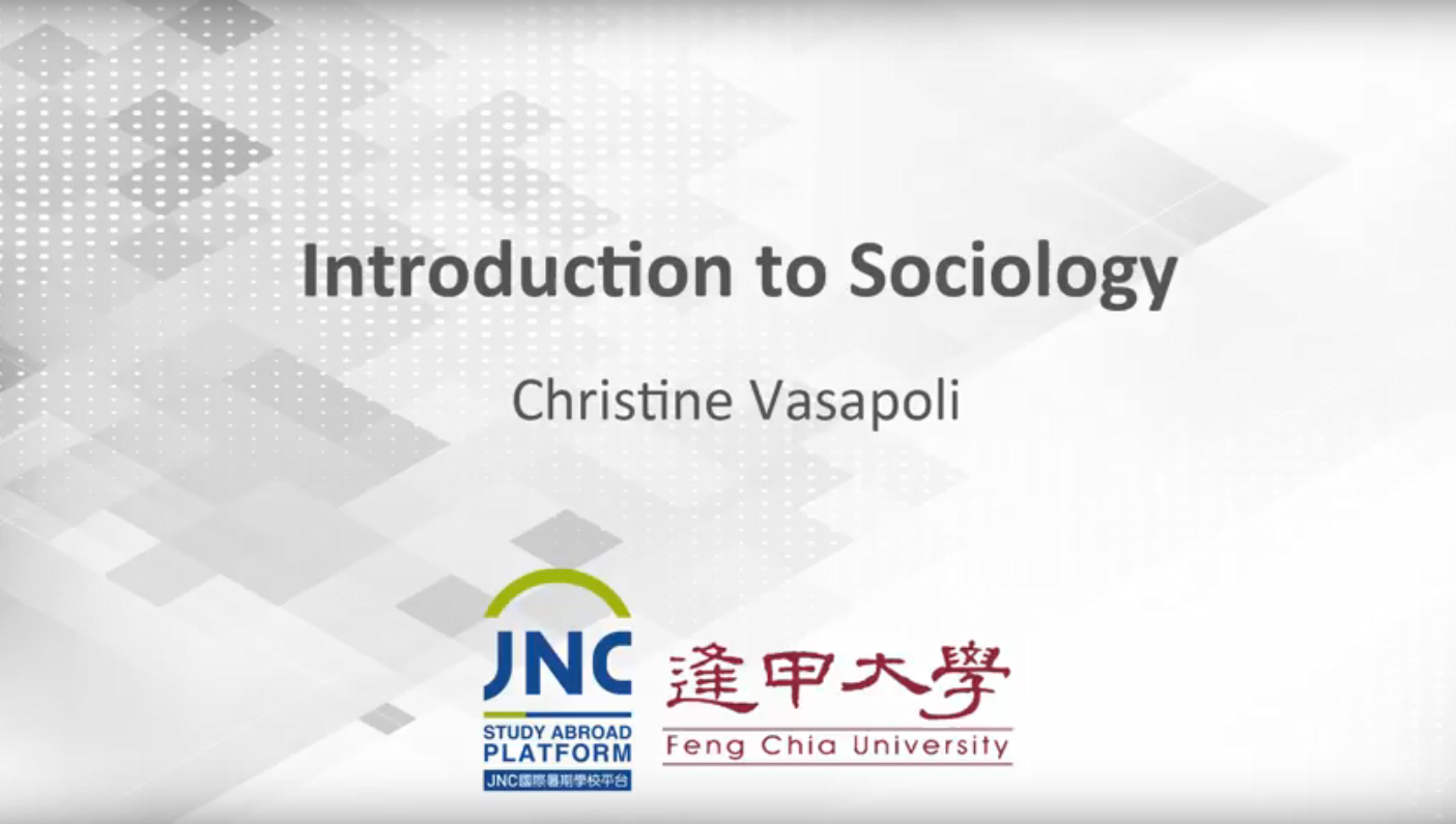 Introduction to Sociology JNC2018003
