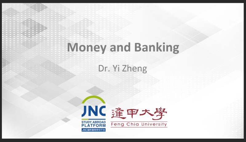 Money and Banking JNC2018012