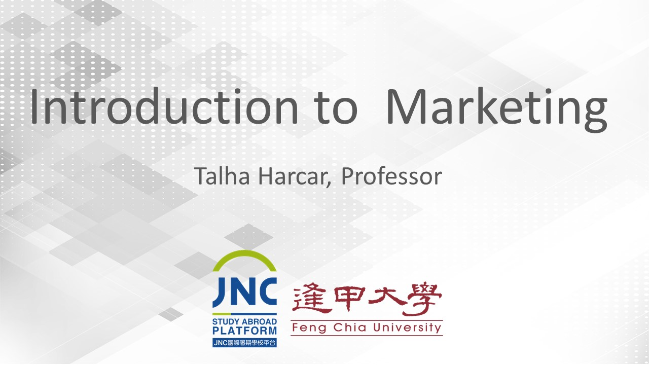 Introduction to Marketing JNC2019001