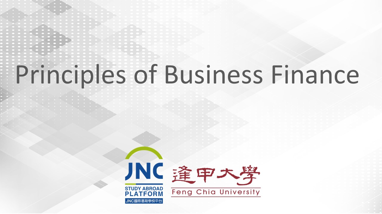 Principles of Business Finance JNC2019003