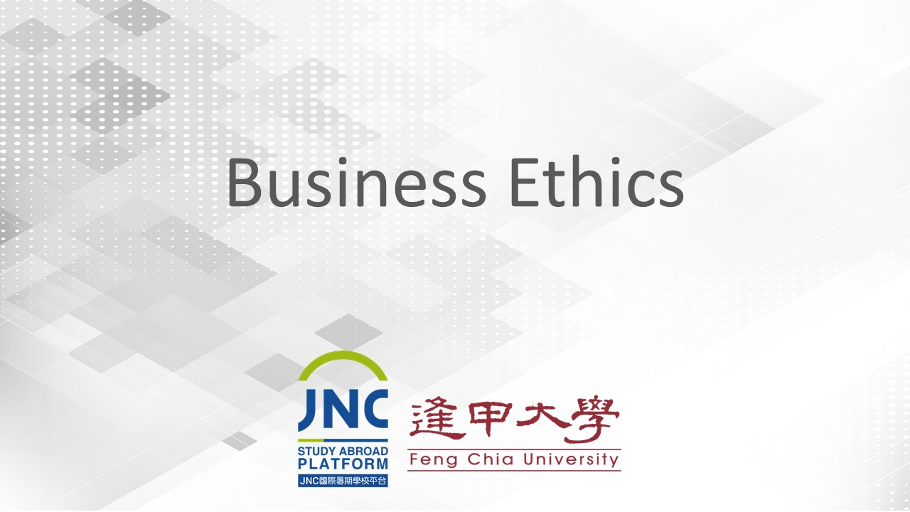 Business Ethics JNC2019004