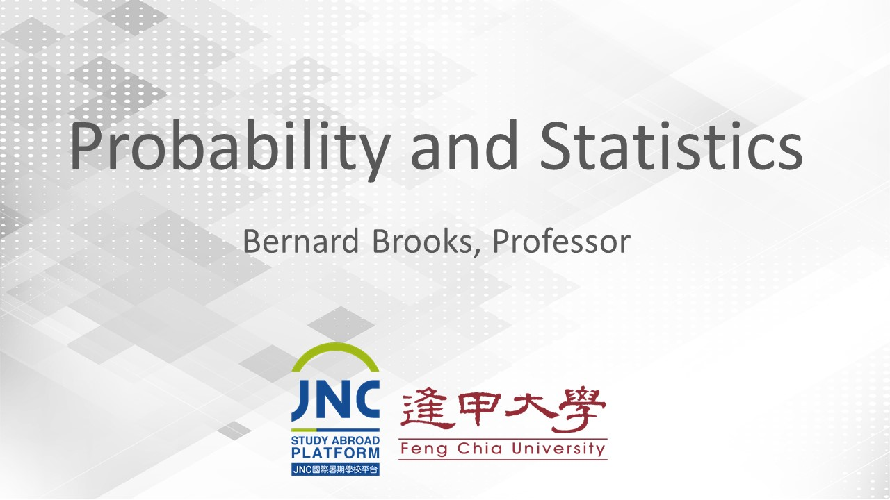 Probability and Statistics JNC2019005