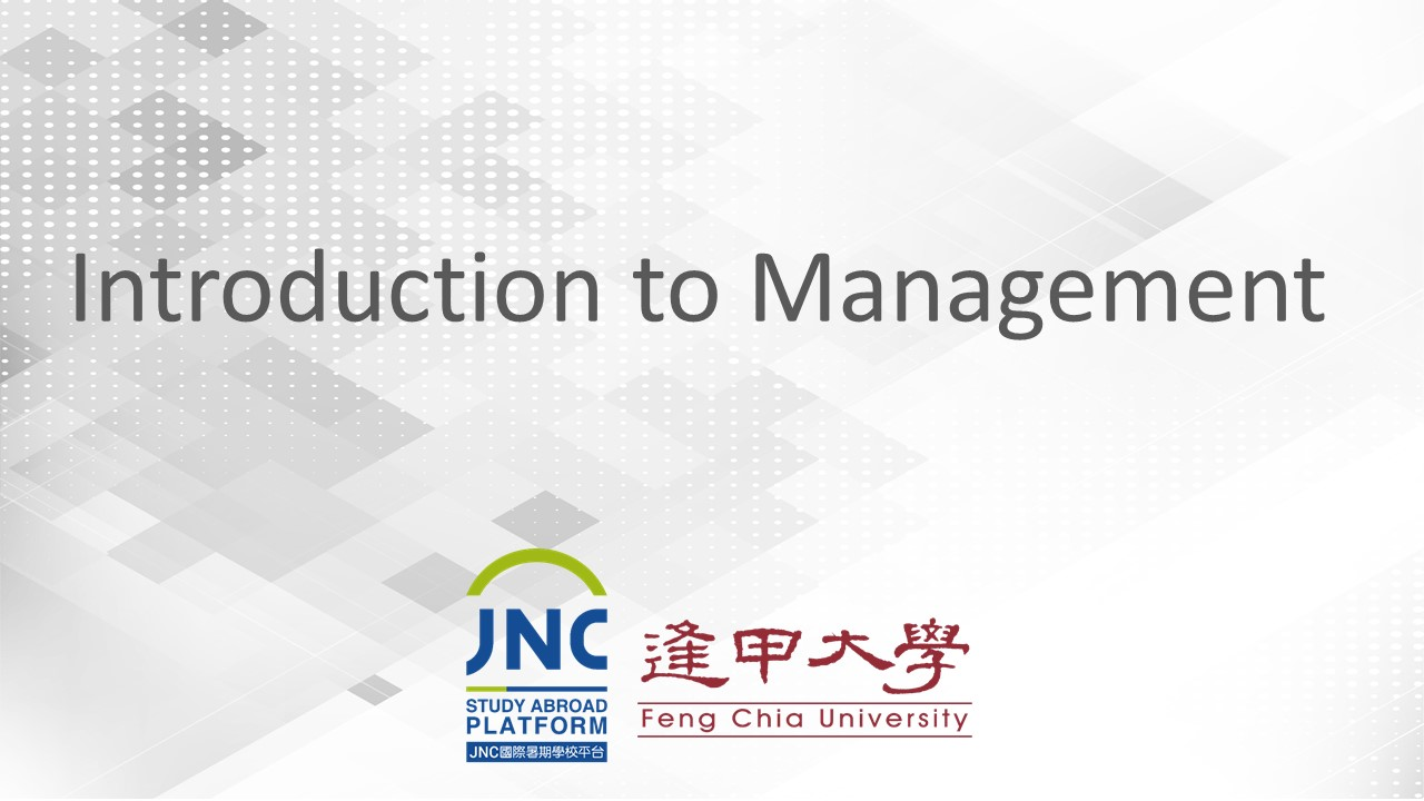 Introduction to Management JNC2019006