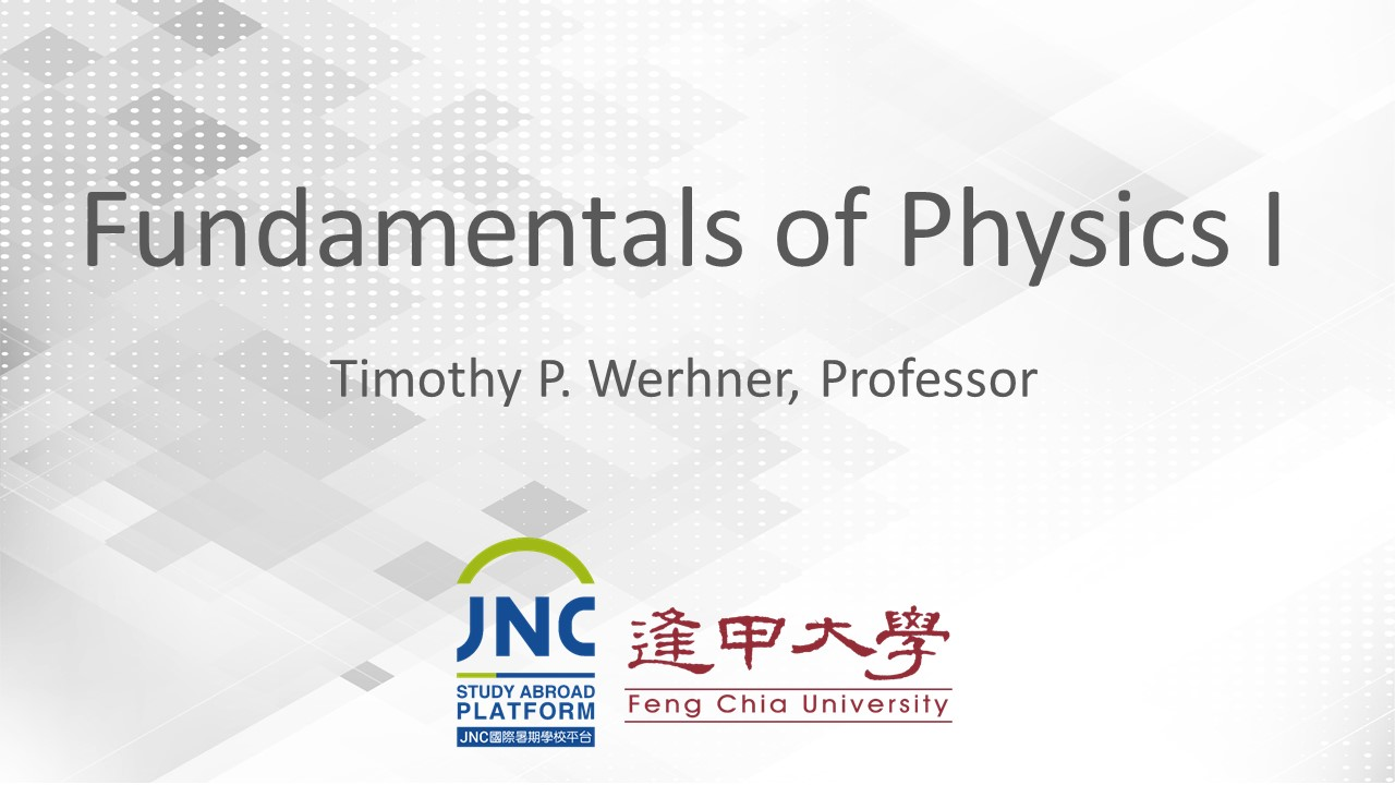 Fundamentals of Physics I JNC2019009