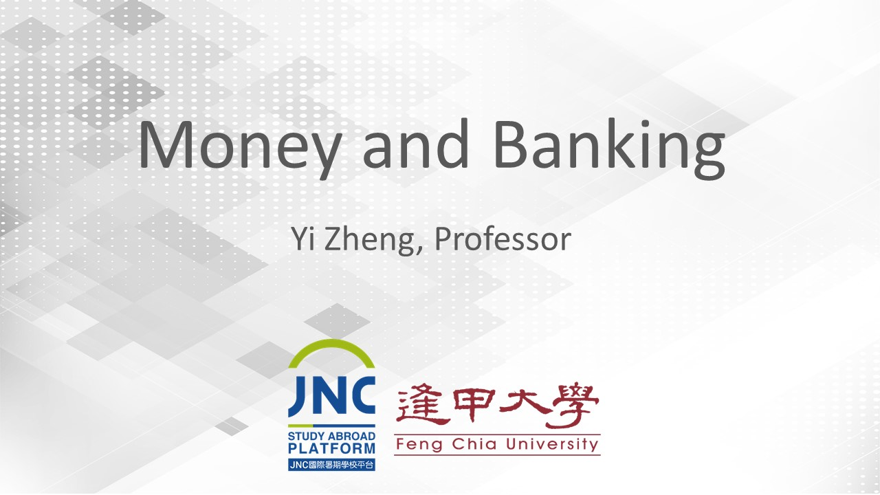 Money and Banking JNC2019024