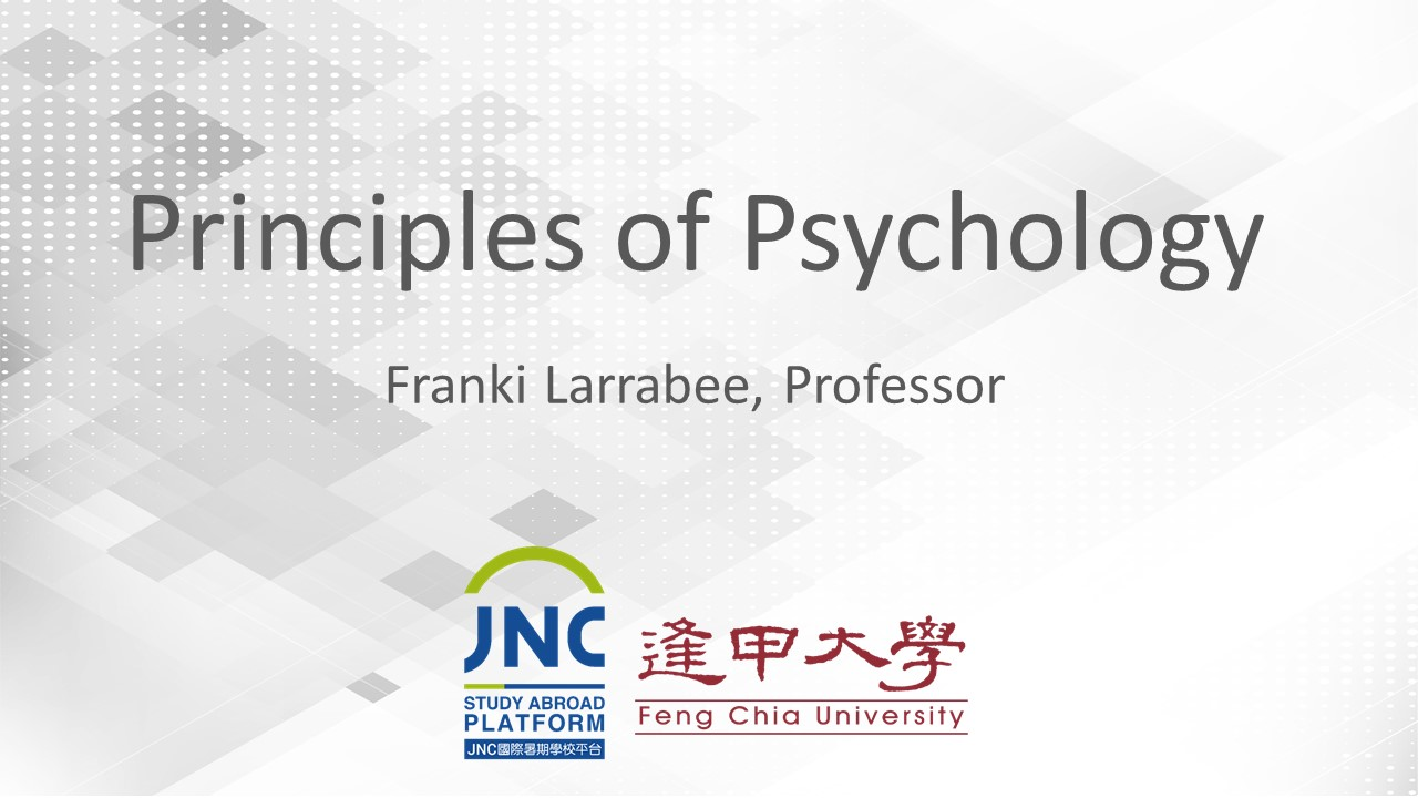 Principles of Psychology JNC2019027